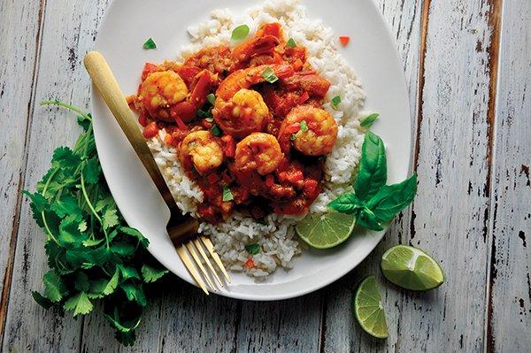 Coconut Curry Shrimp Rice Bowl