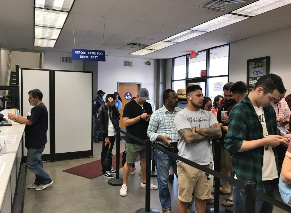 Waiting at the DMV