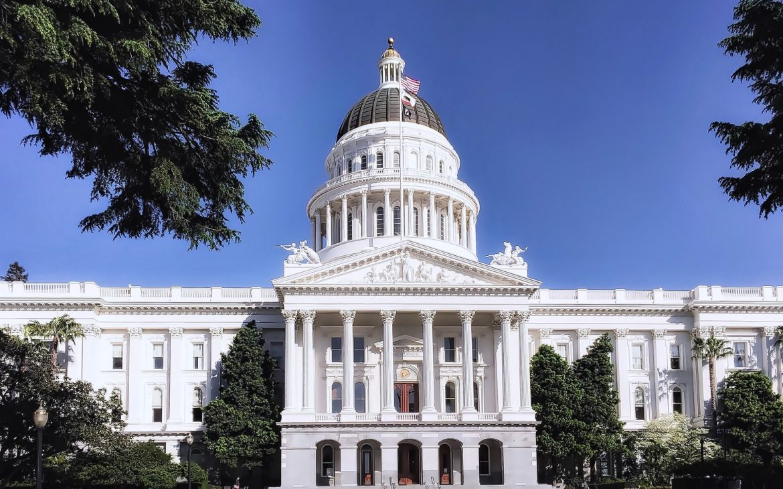 The California State Capitol building in Sacramento